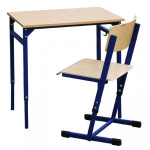 Zestaw-stół leon z reg.wys.1-5 z krzesłem Reks z reg. wys.3-4