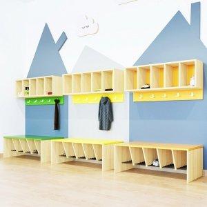 Ławka i półka przedszkolna do szatni