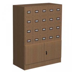 Szafka katalogowa biblioteczna, typ C, 20 szuflad