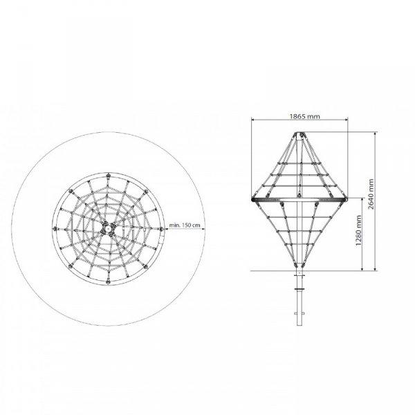 linarium diamond, liniarium, piramida, place zabaw, na plac zabaw, wyposażenie placu zabaw