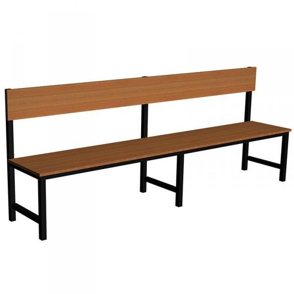 ławka korytarzowo szatniowa premium 1-str. z oparciem 1,5m lub 1,8m lub 2,0m