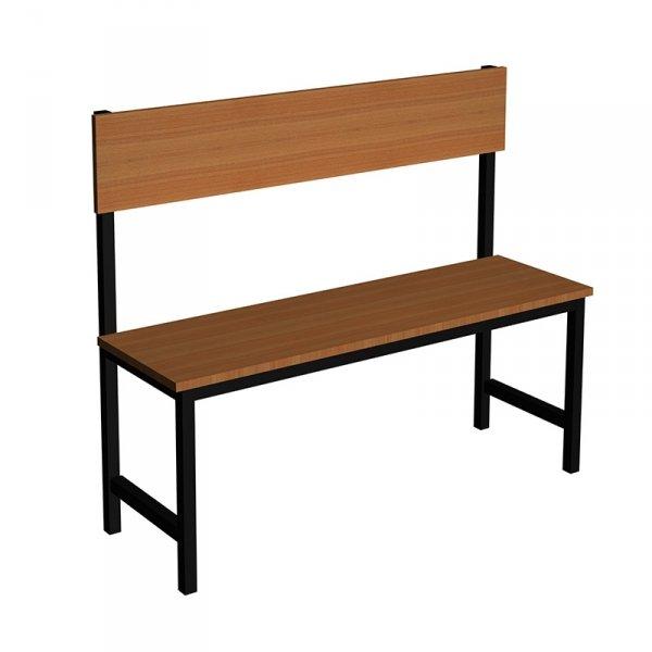 ławka korytarzowo szatniowa Premium 1-str. z oparciem 1m, 1,2 m.