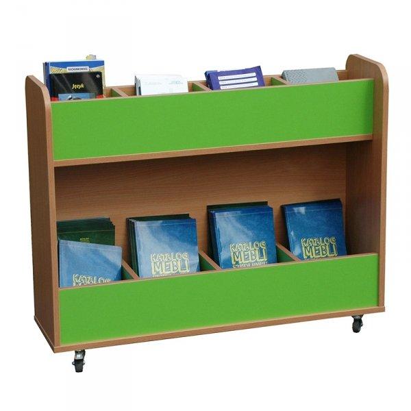 biblioteczka mobilna z przegrodami Primo 225, kącik do biblioteki, biblioteczka na książki