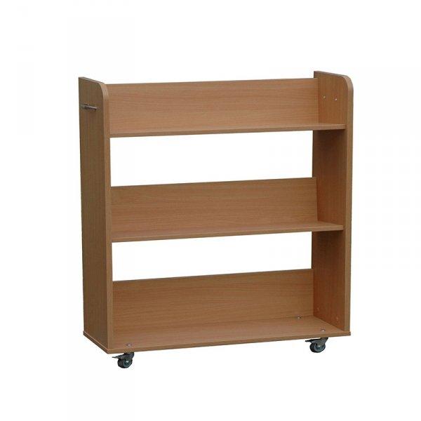 regał mobilny do przewożenia książek Primo 226, dwustronna biblioteczka na kółkach Primo 224, biblioteczka stojąca Primo 223, biblioteczka mobilna z przegrodami Primo 225, kącik do biblioteki