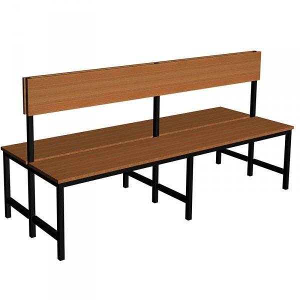 ławka szatniowo korytarzowa premium 2-str. z oparciem 1,5m lub 1,8m lub 2,0m