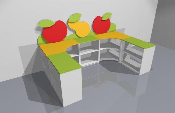 zestaw szafek owoc,z,zestaw szafek dla dzieci,szafki dla dzieci,szafki dziecięce