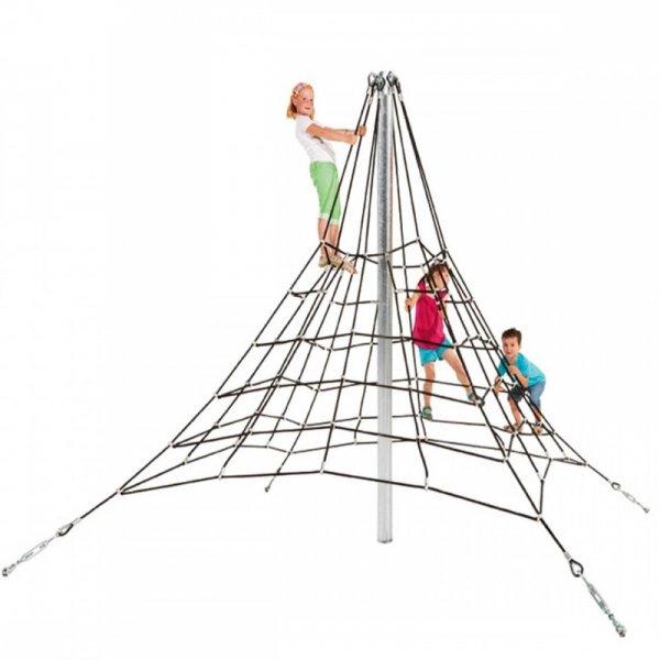 piramida z liny zbrojnej 2,7, mlinarium perry, linarium firry, liniarium, piramida, place zabaw, na plac zabaw, wyposażenie placu zabaw