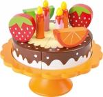 SMALL FOOT Tort urodzinowy - drewniana zabawka