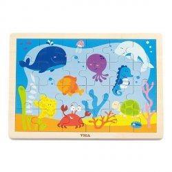 Viga 50200 Puzzle na podkładce 24 elementy - ocean