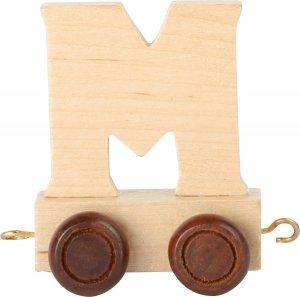 Dekoracja SMALL FOOT wagon do lokomotywy z literą M