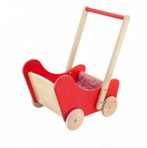 Viga 59215 2w1 Chodzik i wózeczek dla lalek red