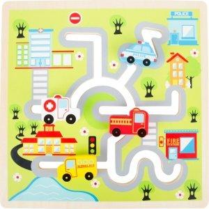SMALL FOOT City Maze Puzzle - labirynt (miasto)