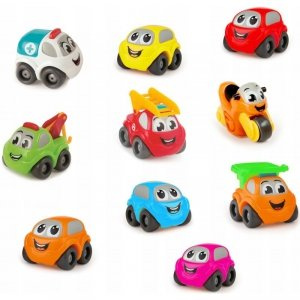 Smoby Zestaw 10 Kolorowych samochodzików Vroom Planet