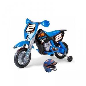 FEBER Motocykl Cross Pojazd na Akumulator RIDER 6V dla Dzieci + Kask