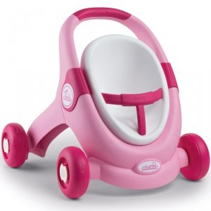 Smoby MiniKiss 3w1 Chodzik Pchacz Wózek Różowy