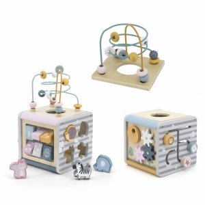 Viga Toys Polar B Activity Box Drewniane Centrum Gier 5w1