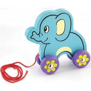 Viga drewniany słoń do ciągnięcia