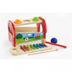 Viga Toys Przybijanka Cymbałki dla dzieci 2 w 1