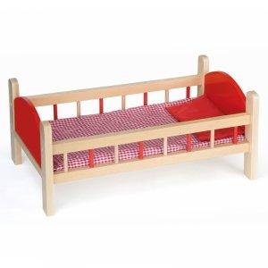 Drewniane łóżeczko dla lalek do 50 cm z Pościelą Viga