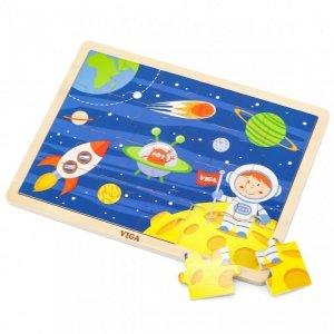 VIGA Drewniane Puzzle Kosmos 24 Elementy