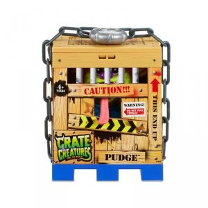 Crate Creatures Interaktywny stworek Pudge w klatce