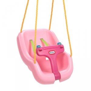 Little tikes Huśtawka 2w1 Dla Dzieci Głęboka Kubełkowa Bezpieczna Różowa