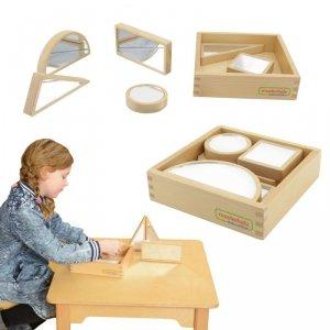 Drewniane Klocki Dwustronne Lustrzane Suchościeralne Masterkidz 6 Elementów