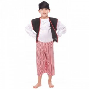 Strój Pirata Pirat Kostium Kapitan Bluza Spodnie Chusta dla dziecka 122 cm