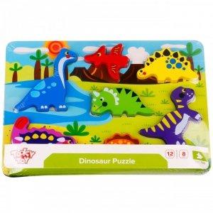 TOOKY TOY Grube Puzzle Dinozaury Dopasuj Kształty