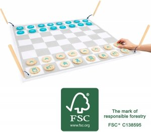 SMALL FOOT Draughts and Chess Active - warcaby i szachy w ogrodzie