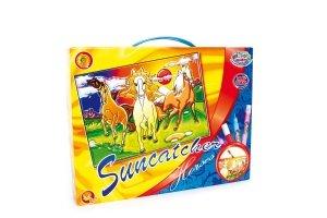 "SMALL FOOT Suncatcher ""Horses"" - kolorowanka (Konie)"