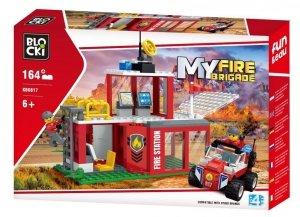 Klocki Blocki MyFireBrigade Remiza strażacka 164 el.
