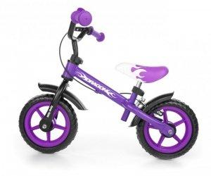 Rowerek biegowy Dragon z hamulcem violet