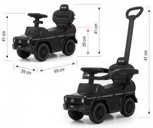 Milly Mally Pojazd z rączką MERCEDES G350d Black