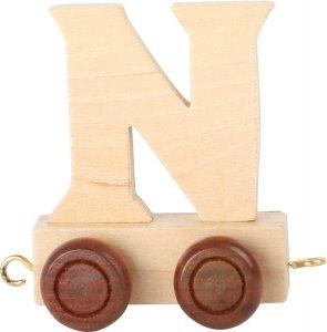 Dekoracja  SMALL FOOT wagon do lokomotywy z literą N