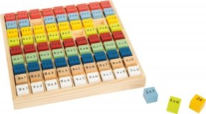 SMALL FOOT Colourful multiplication table Educate- Drewniana Kolorowa Tabliczka Mnożenia