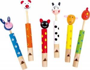 SMALL FOOT Flutes Animals - drewniany zestaw fletów (6 sztuk)