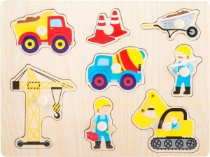 SMALL FOOT Puzzle Construction Site - drewniane puzzle Plac Budowy