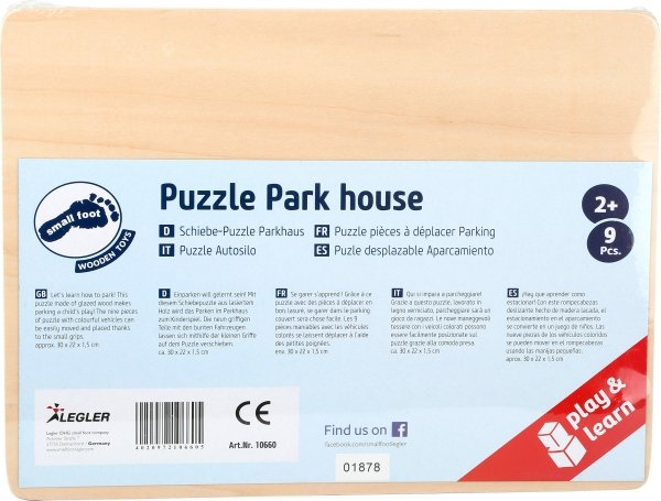 SMALL FOOT Puzzle Park House  - drewniana łamigłowka