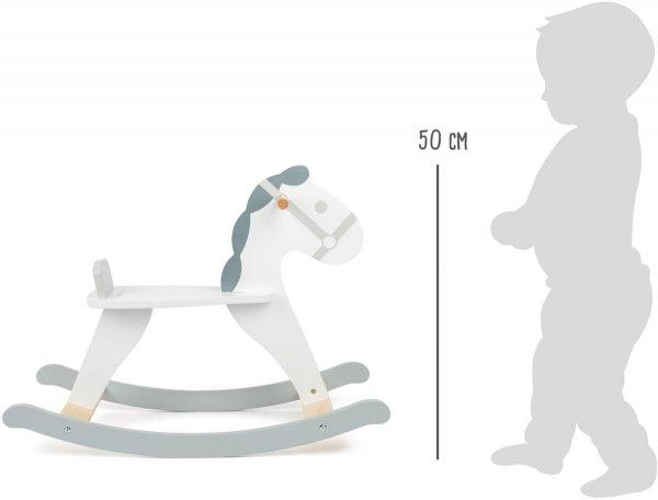 SMALL FOOT Rocking Horse Skandi - drewniany konik na biegunach
