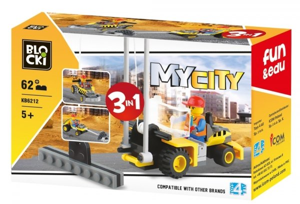 Klocki Blocki MyCity 3w1 - 62 el.