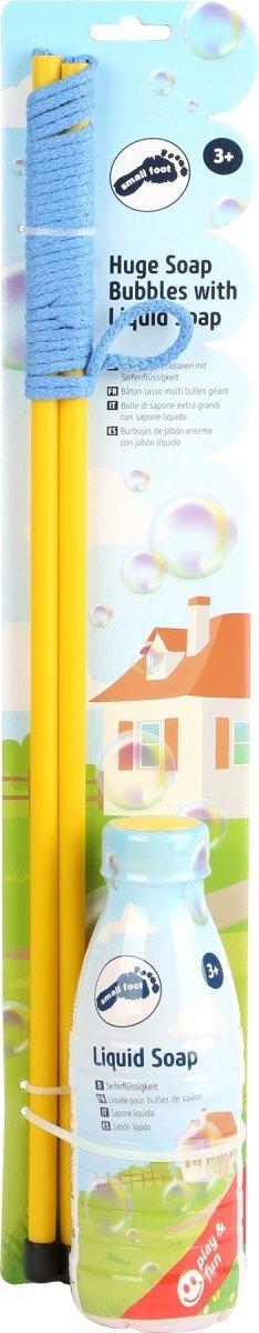 SMALL FOOT Huge Soap Bubbles with Liquid Soap - zestaw do produkcji wielkich baniek mydlanych