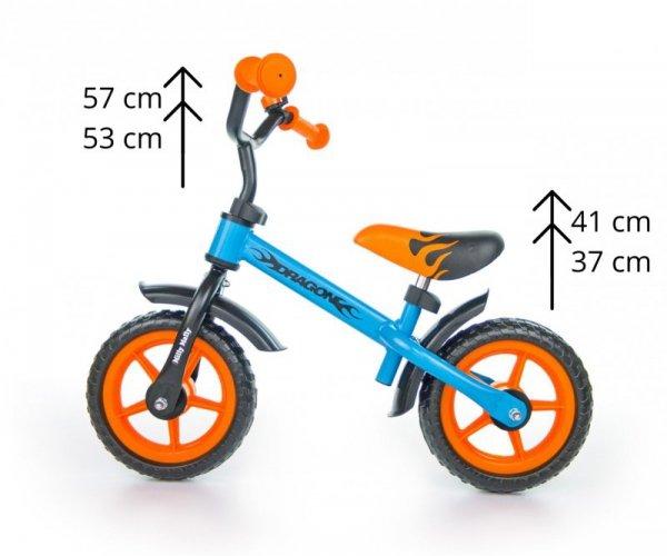 Milly Mally Rowerek Biegowy Dragon blue-orange (0305)