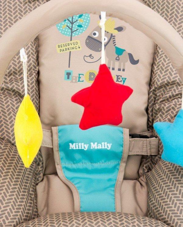 Milly Mally Leżaczek Milly Khaki Safari (0469, Milly Mally)