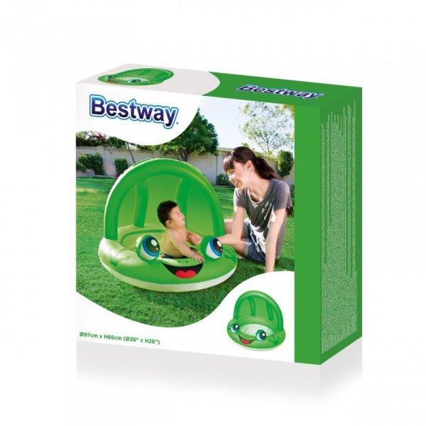 Bestway 52189 BASEN Z DASZKIEM ŻABKA/BIEDRONKA 97cmxH66cm (51062, Bestway)
