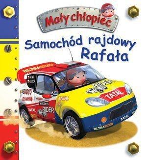 Samochód rajdowy Rafała. Mały chłopiec