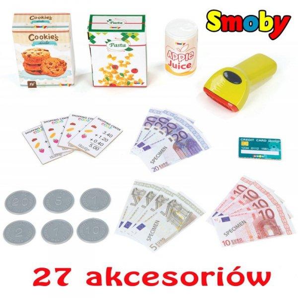 Smoby Interaktywna Kasa Sklepowa z Kalkulatorem 27 Akc.