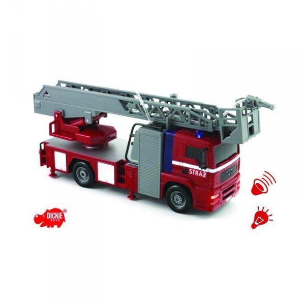 DICKIE SOS Straż pożarna City Fire Engine Światła Dźwięk Woda