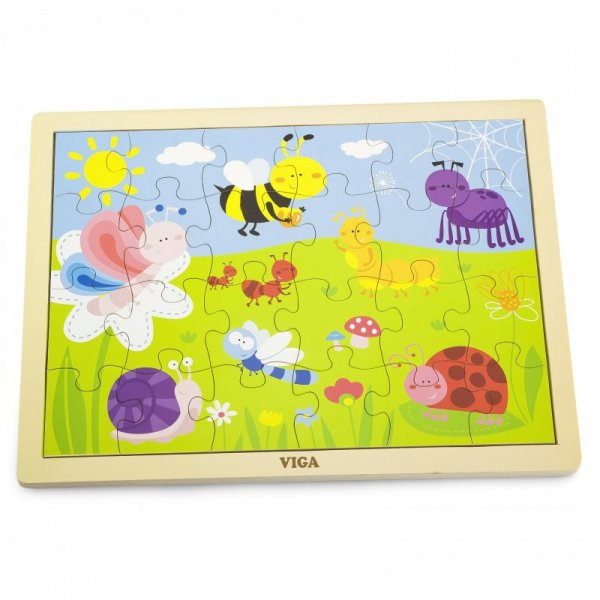 VIGA Drewniane Puzzle Park 24 Elementy