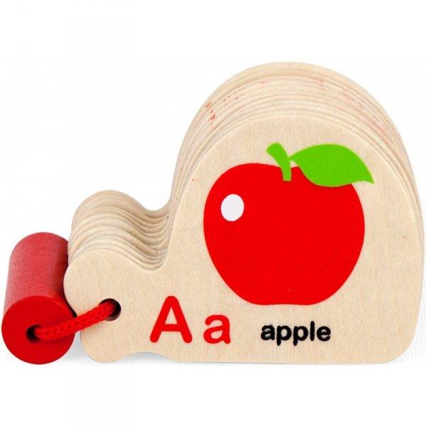 Viga Drewniana Książeczka do Nauki Alfabetu i Angielskiego